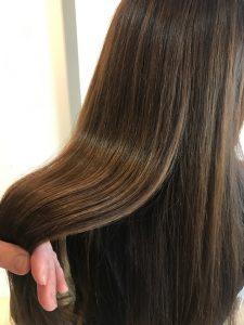 髪質改善トリートメントモデル画像